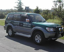 The Fish-Helpline's quick response vehicle
